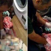 Çamaşır makinesi içinden çıktı! Polisler bile şaşırdı