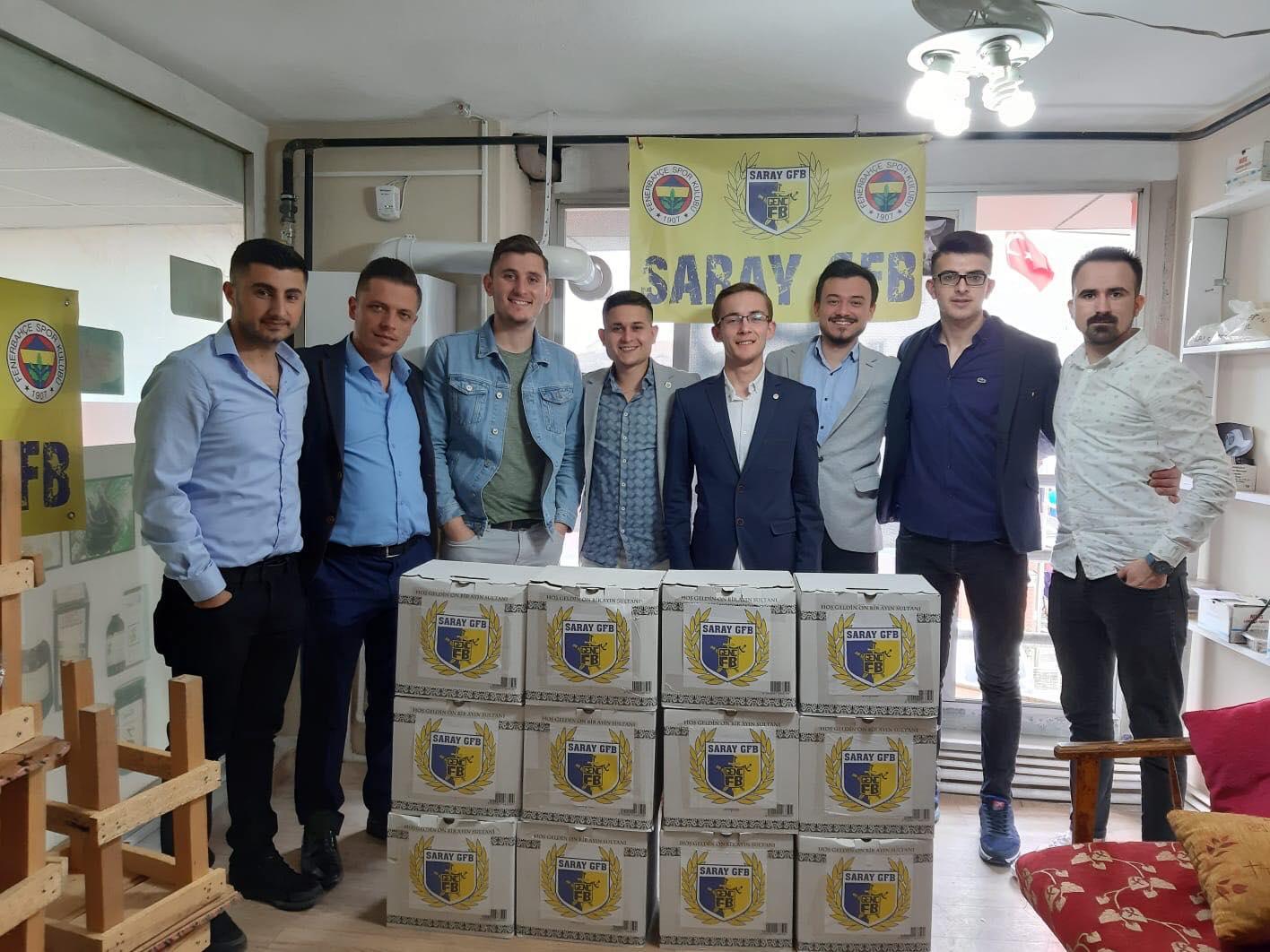 Saray Genç Fenerbahçeliler'den Erzak Yardımı