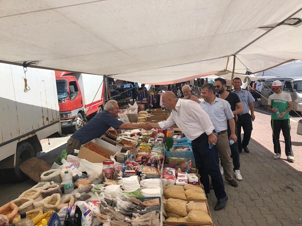 Başkan Özgen ERKİŞ esnafı ziyaret etti.