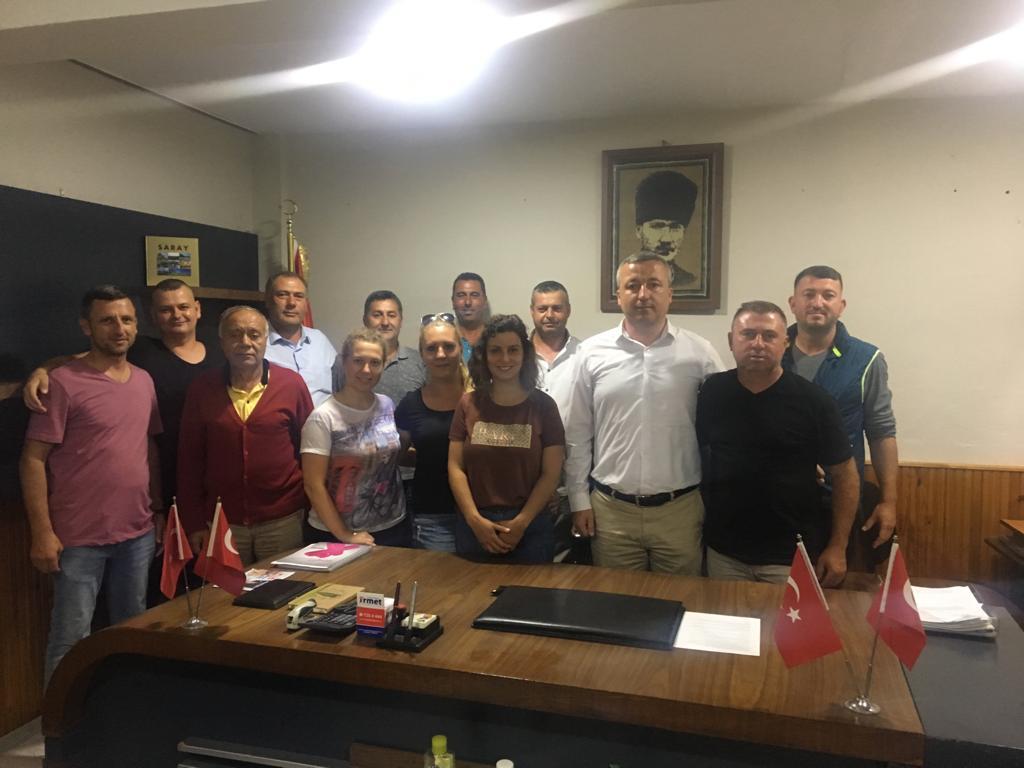 Samet DERVİŞ ve Yönetiminden Çukuryurt Mahalle Muhtarına Ziyaret!