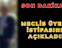 SON DAKİKA! MECLİS ÜYESİ İSTİFA ETTİ