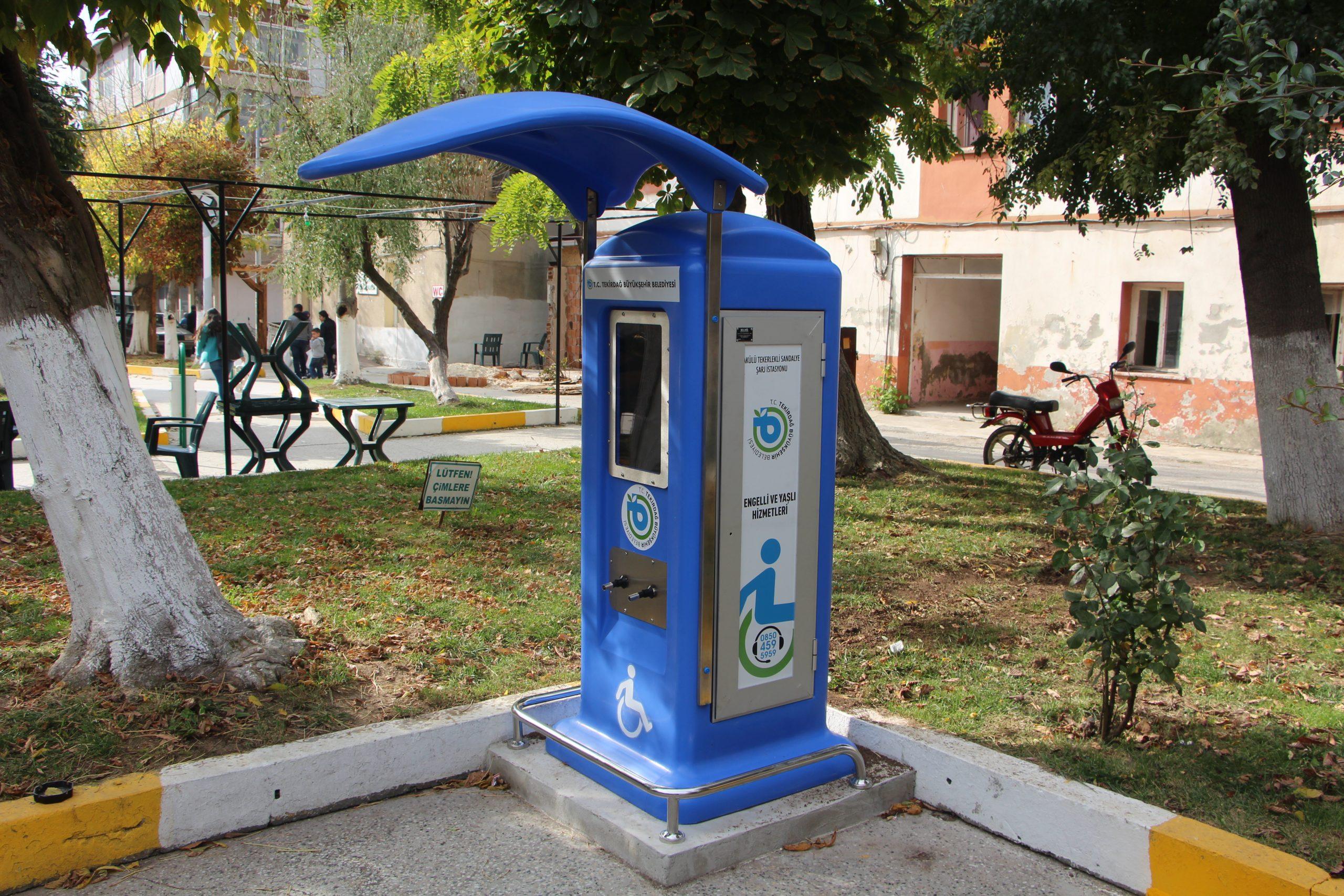 Belediyeden Engelli Tuvaleti ve Elektrikli Sandalye Şarj Cihazı!