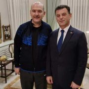 Başkan Çetin'den Bakan Soylu'ya Geçmiş Olsun Ziyareti