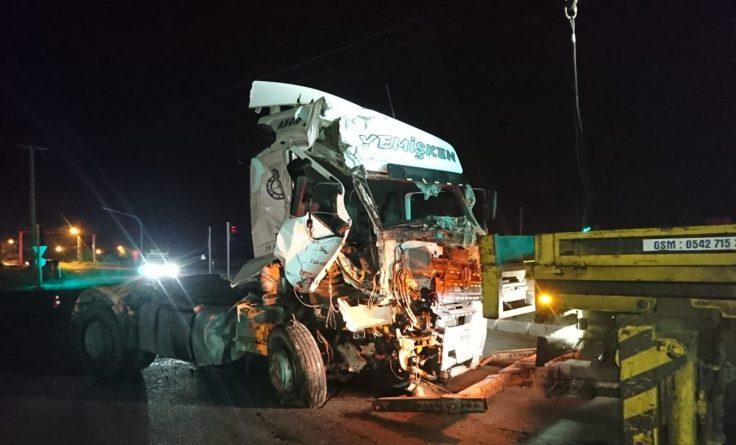 Çukuryurt Kavşağında Trafik Kazası