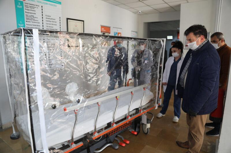 Başkan Mustafa ÇETİN'den Hastaneye İzolasyonlu Kabin!