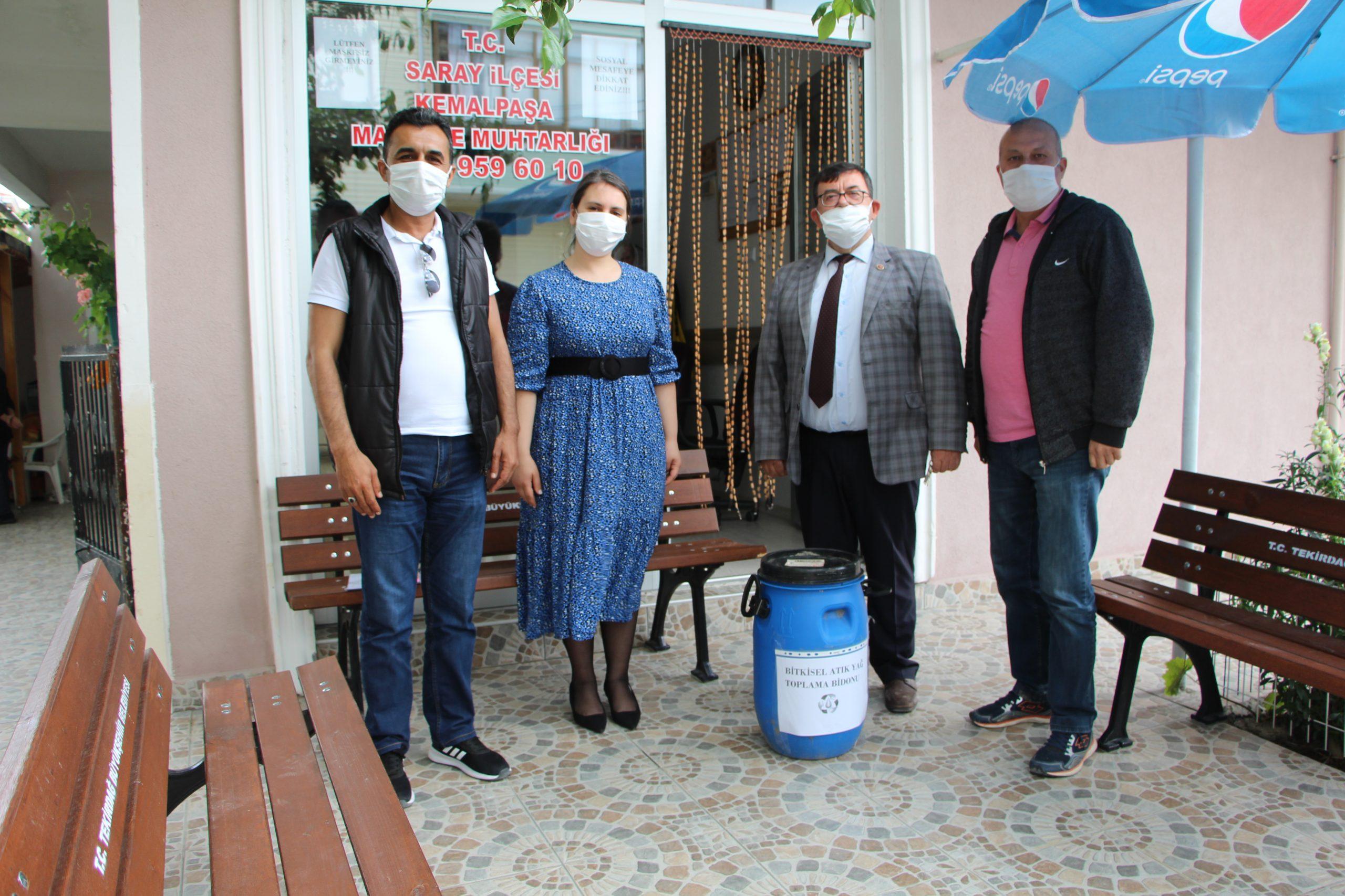 Saray Belediyesi Bitkisel Atık Yağları Topluyor