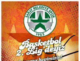 Basketbol 2. Lig'deyiz Bu gurur hepimizin!