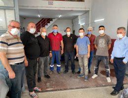 Başkan Ali ÖZEN ve Yönetimi Sanayi Esnafını Ziyaret Etti