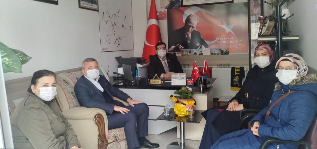 Ak Parti Yönetimi Muhtar ATİK'i Ziyaret etti