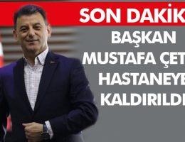Kapaklı Belediye Başkanı Mustafa Çetin hastaneye kaldırıldı