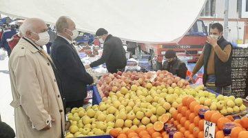 İYİ Parti Saray'da Çarşı Pazar Gezdi