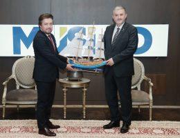 MÜSİAD Tekirdağ, Genel Başkan Abdurrahman Kaan'ı ziyaret etti