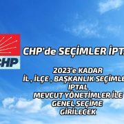 CHP'de Seçimler İptal