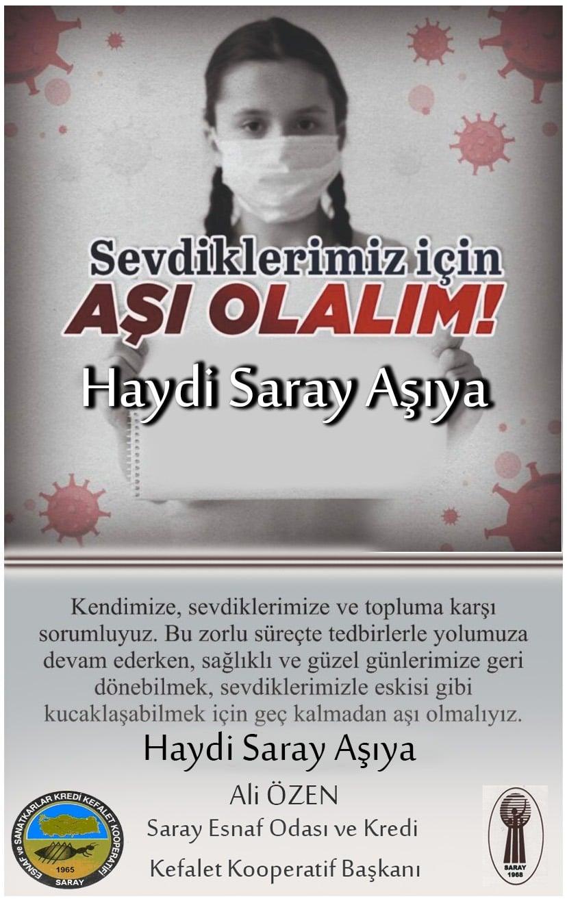 """Ali Özen'den Saraylı Vatandaşlara Çağrı: """"Hadi Saray Aşıya"""""""